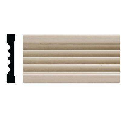 1820 3/8 in. x 2-1/4 in. x 84 in. White Hardwood Fluted Casing Moulding