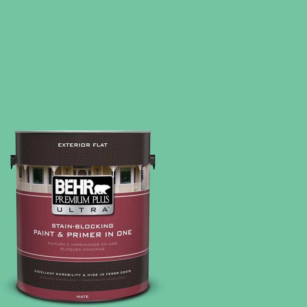 BEHR Premium Plus Ultra 1-gal. #P420-4 Menthol Flat Exterior Paint