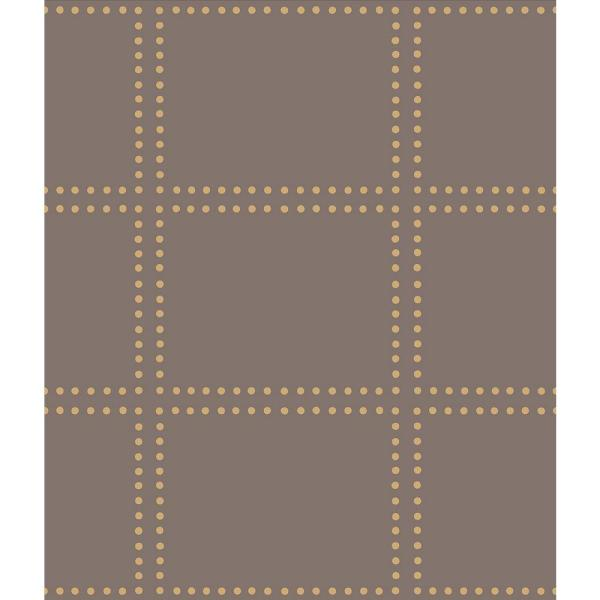 A-Street Gridlock Brown Geometric Wallpaper Sample 2697-22642SAM