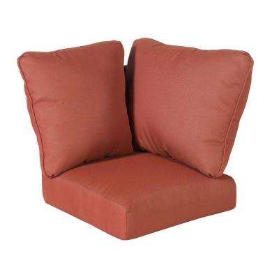 Tobago Burgundy Solid Replacement Cushions