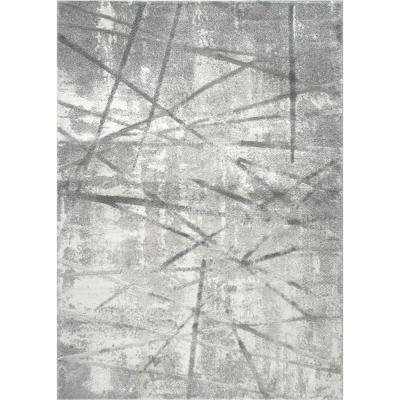 Roma Gray 8 ft. x 10 ft. Indoor Area Rug