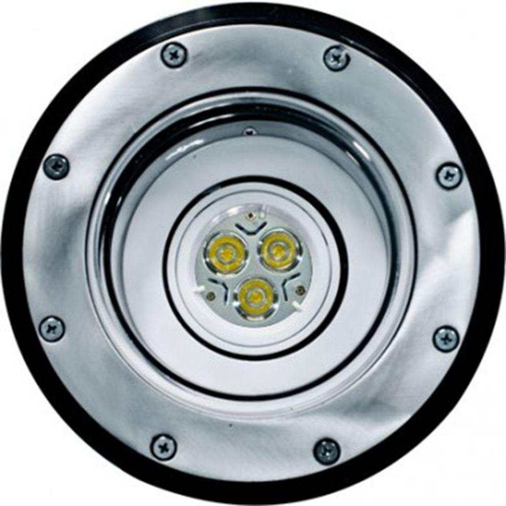 Brantley 3-Light Electro-Plated Stainless Steel Outdoor LED In-Ground Well Light