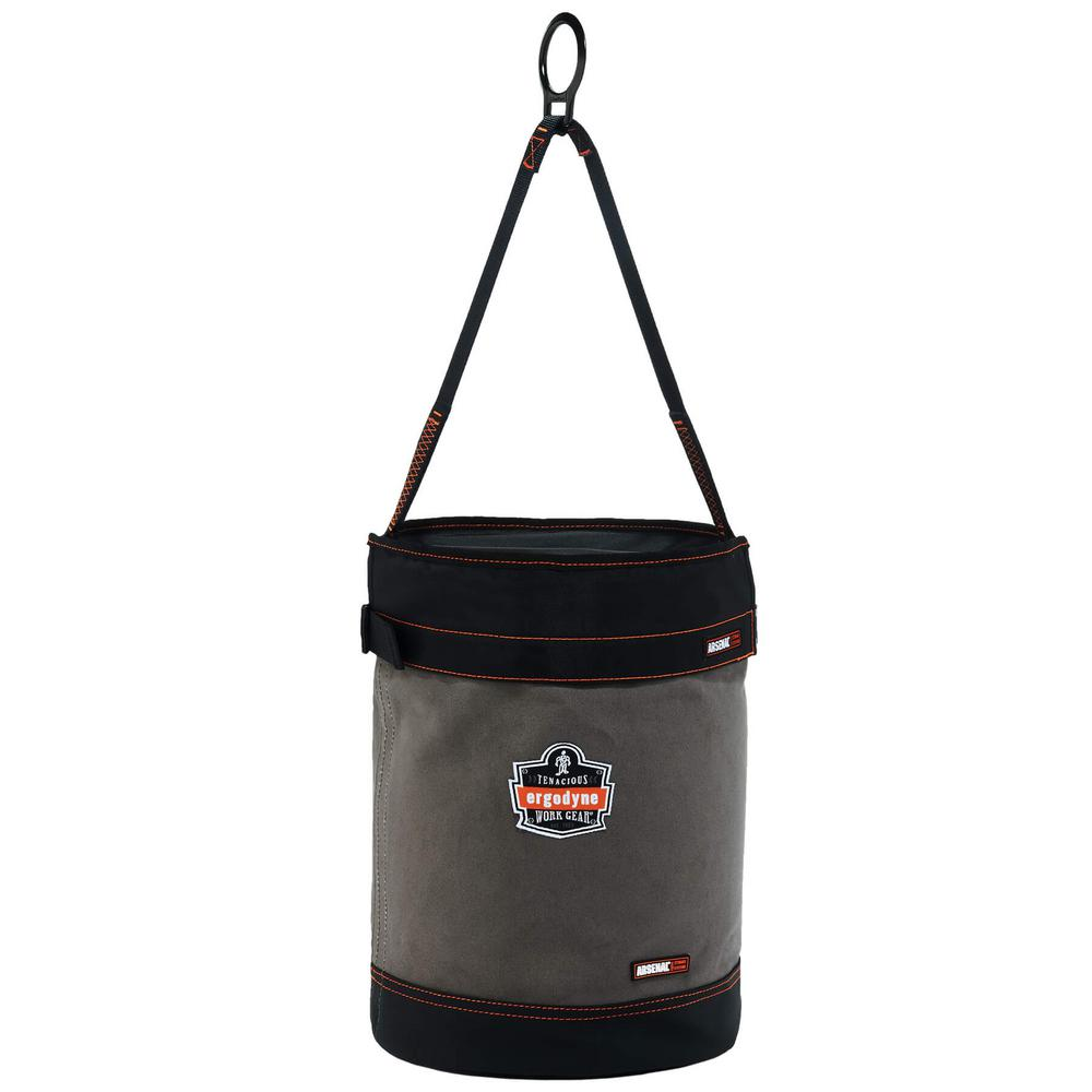 Arsenal 12.5 in. Tool Bucket with D-Rings and Top in Gray