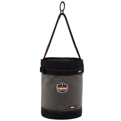 Arsenal 12.5 in. Tool Bucket with D-Rings and Top in Gray Canvas