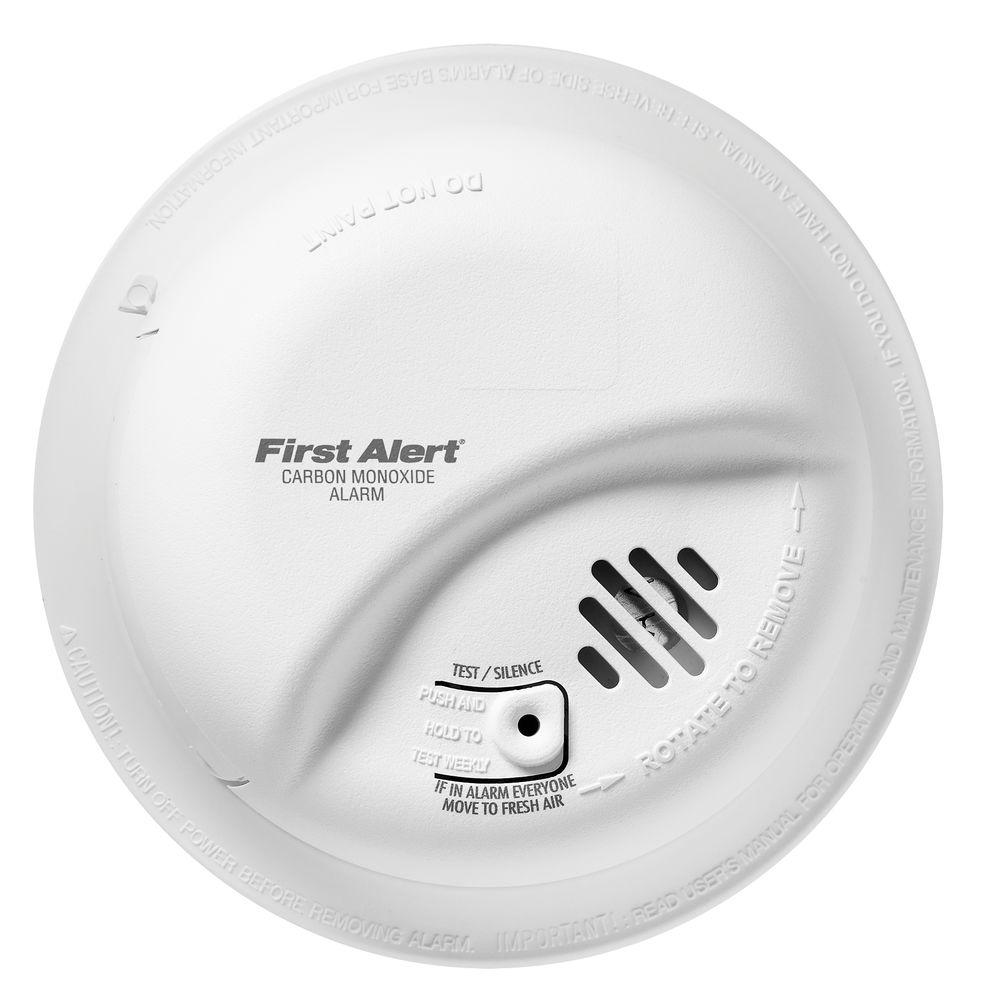 Co Smoke Combination Detectors Fire Safety The Home Depot First Alert Detector Wiring Diagram Hardwired Interconnect Carbon Monoxide Alarm With Battery Backup