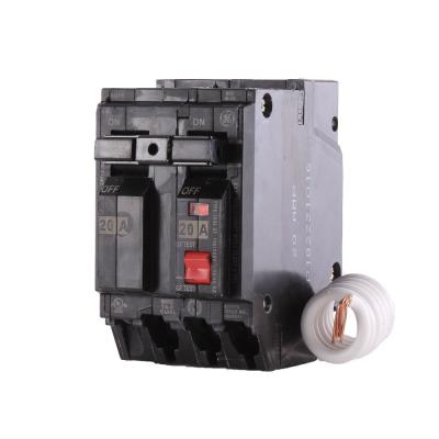 20 Amp Double Pole Ground Fault Breaker with Self-Test