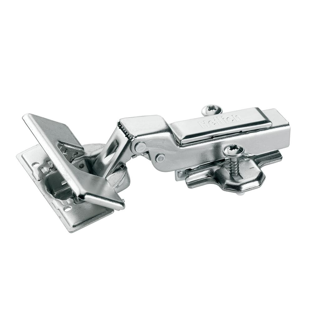 Concealed Half Overlay 1-3/8 in. (35 mm) Frameless Hinge, Toolless Clip-On