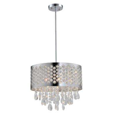 Catalyn 4-Light Crystal Chandelier with Chrome Shade