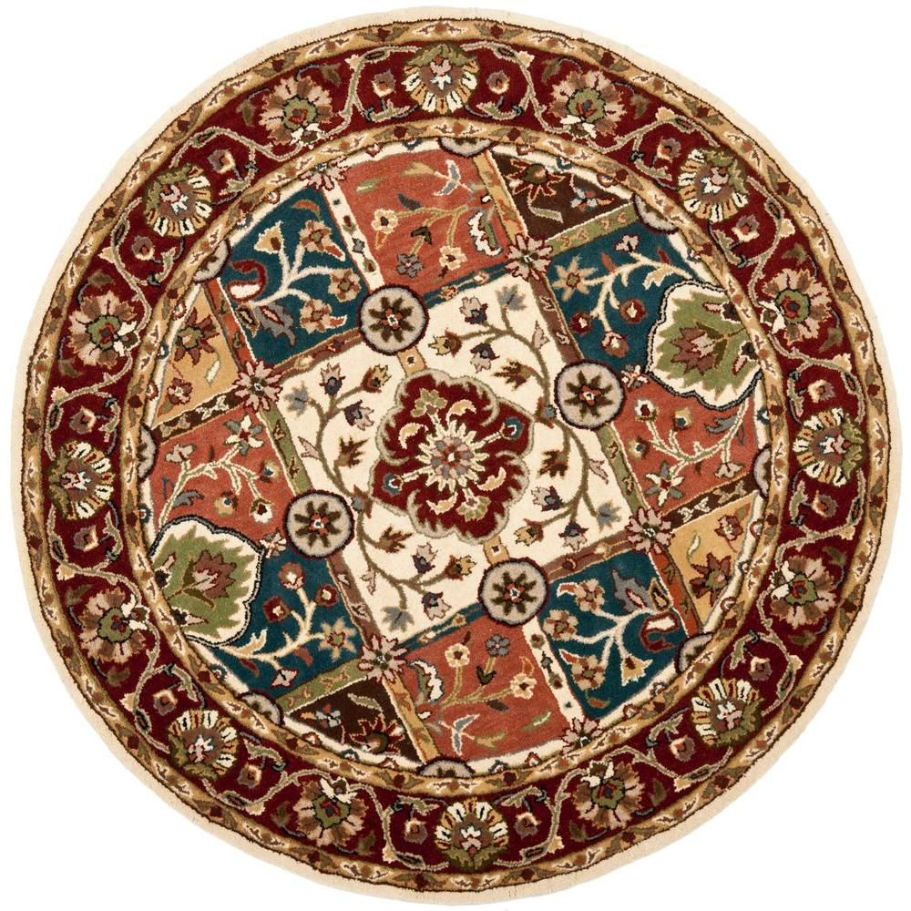 Safavieh Heritage Multi Red 3 Ft 6 In Round Area Rug