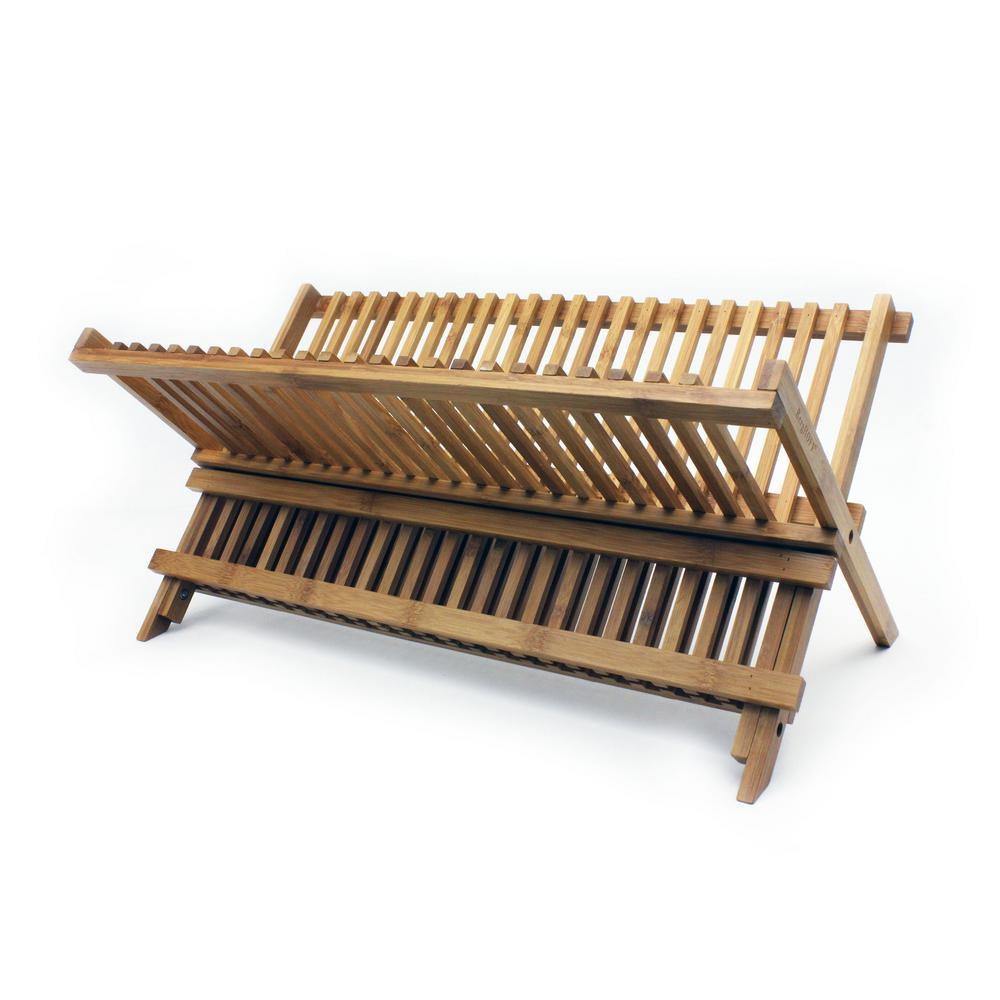 Bamboo Plate Rack