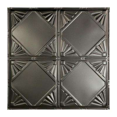 Erie 2 ft. x 2 ft. Nail-up Tin Ceiling Tile in Argento