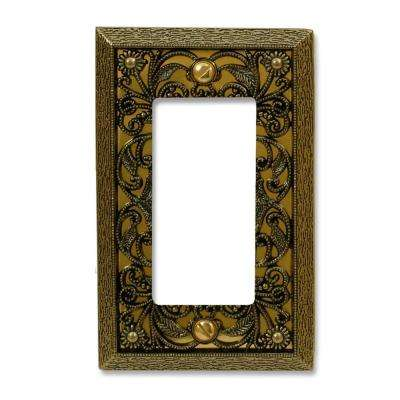Filigree 1 Decora Wall Plate - Antique Brass