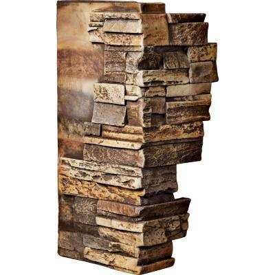 1-1/2 in. x 12 in. x 25 in. Geneva Urethane Dry Stack Stone Outer Corner Wall Panel