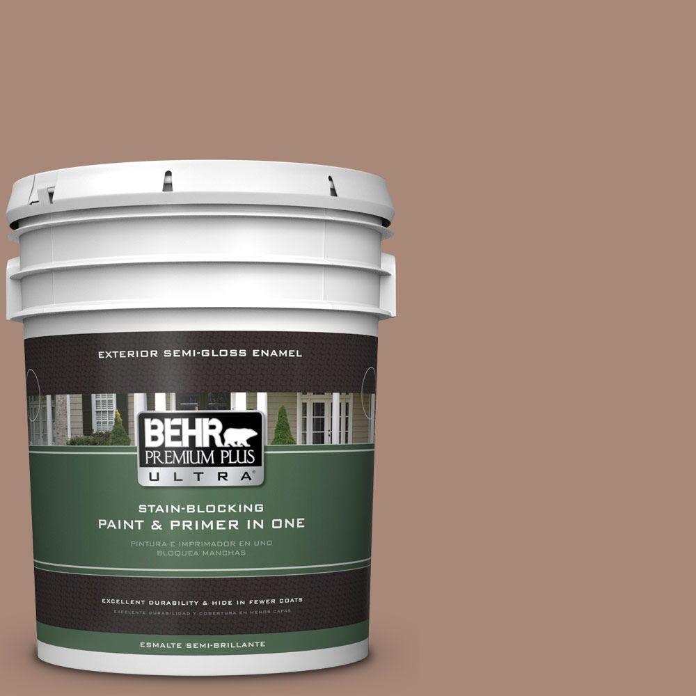 BEHR Premium Plus Ultra 5-gal. #PPU3-14 Tribal Pottery Semi-Gloss Enamel Exterior Paint