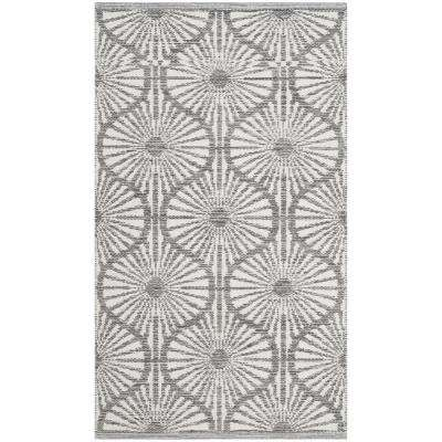 Montauk Charcoal/Ivory 2 ft. 3 in. X 3 ft. 9 in. Area Rug