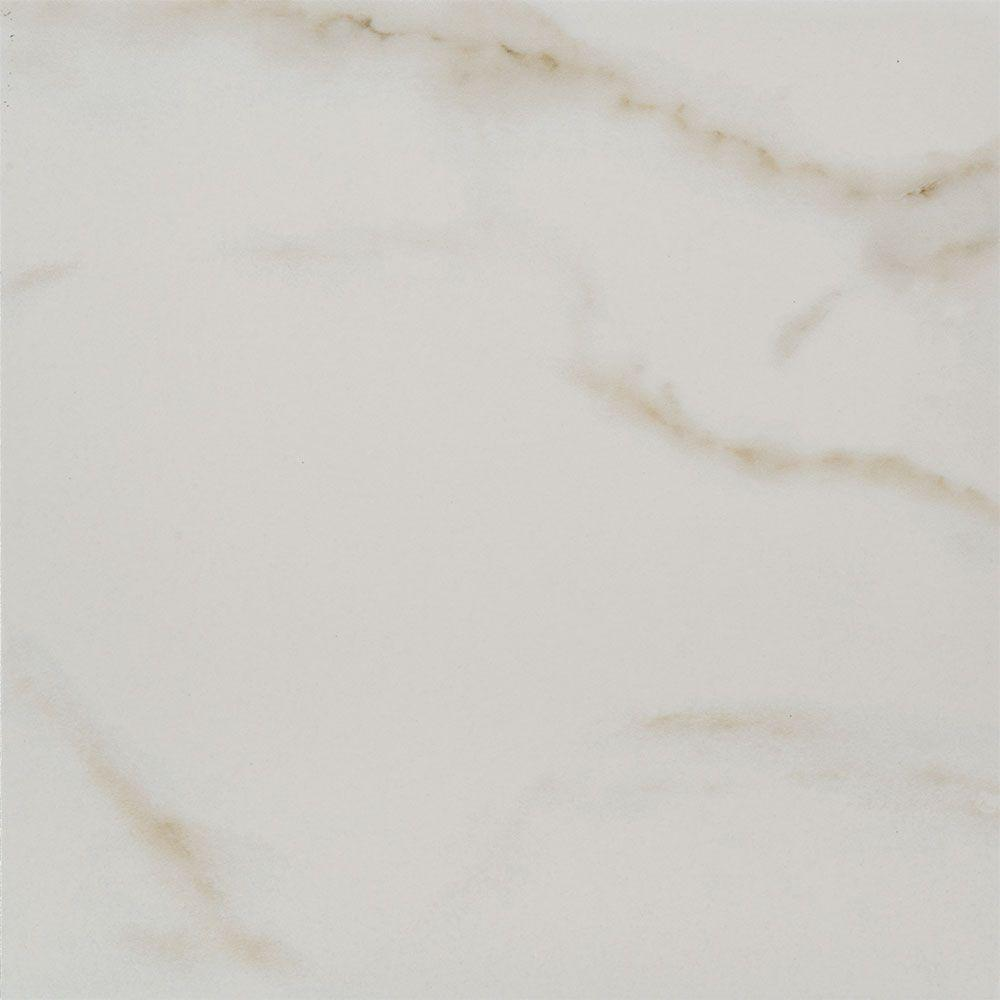Michelangelo White 12 in. x 12 in. Porcelain Floor and Wall