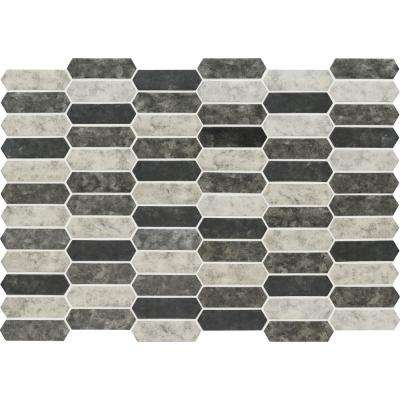 Urban Tapestry Picket 9.5 in. x 14 in. x 6 mm Glass Mesh-Mounted Mosaic Tile (13.95 sq. ft./case)