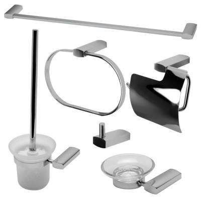 6-Piece Bath Hardware Set in Polished Chrome