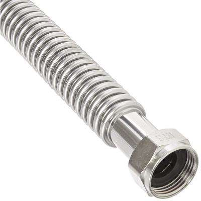 1-1/4 in. FIP x 1-1/4 in. FIP - 18 in. Stainless Steel Corrugated Water Heater Connector