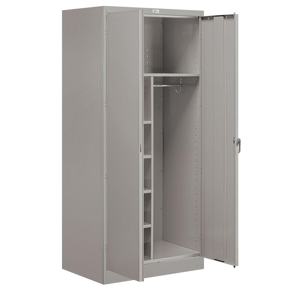 Salsbury Industries 9200 Series 78 in. H x 24 in. D Combination Storage Cabinet Assembled in Gray