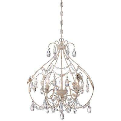 3-Light Provencal Blanc Mini Chandelier