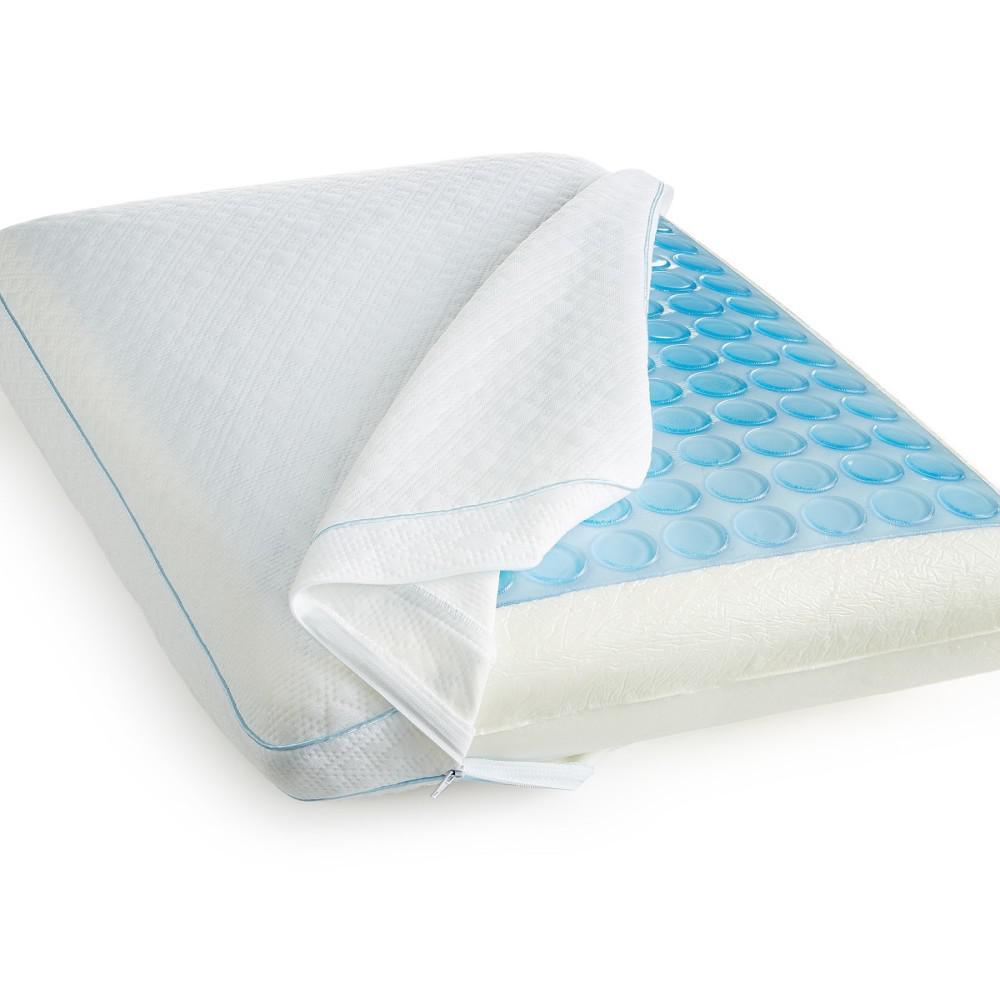 SensorPEDIC Luxury Cooling Gel Overlay Memory Foam Oversized Pillow