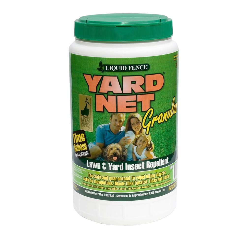 liquid fence yard net 2 lb insect repellent granules hg