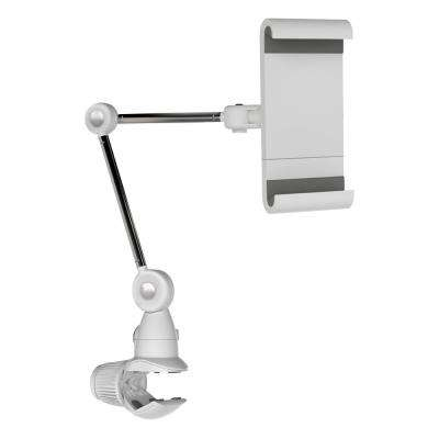 """Barkan 7"""" to 12"""" Universal, Multi - Position Tablet Mount, White, Firm Tablet Clamp, 360° Rotation, Multi Surface Clamp"""