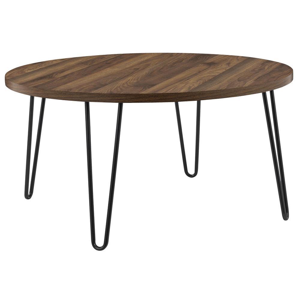 Montrose Walnut Retro Round Coffee Table
