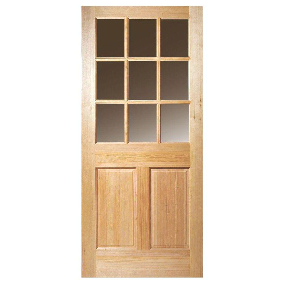 Steves Sons 32 In X 80 In Craftsman 9 Lite Stained: Masonite 32 In. X 80 In. 9 Lite Unfinished Fir Front Door