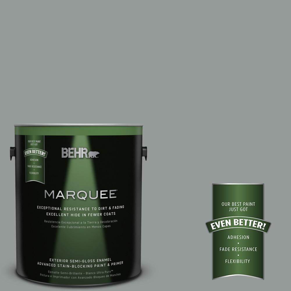 BEHR MARQUEE 1-gal. #BXC-66 Dusk Blue Semi-Gloss Enamel Exterior Paint
