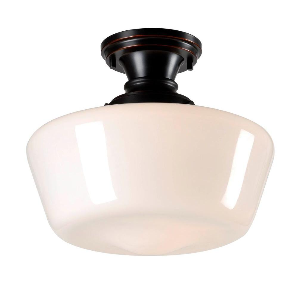 Cambridge 1-Light Bronze Flush Mount
