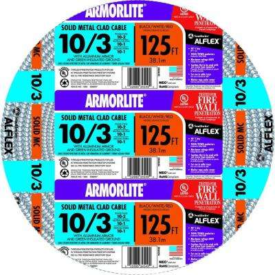 10/3 x 125 ft. Solid CU MC (Metal Clad) Armorlite Cable