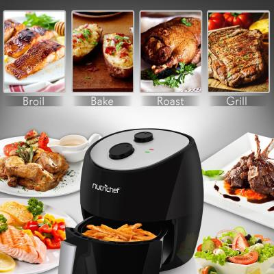 Electric Air Fryer - Oil-Free Kitchen Air Frying with Non-Stick Fry Basket, 3.0L Capacity