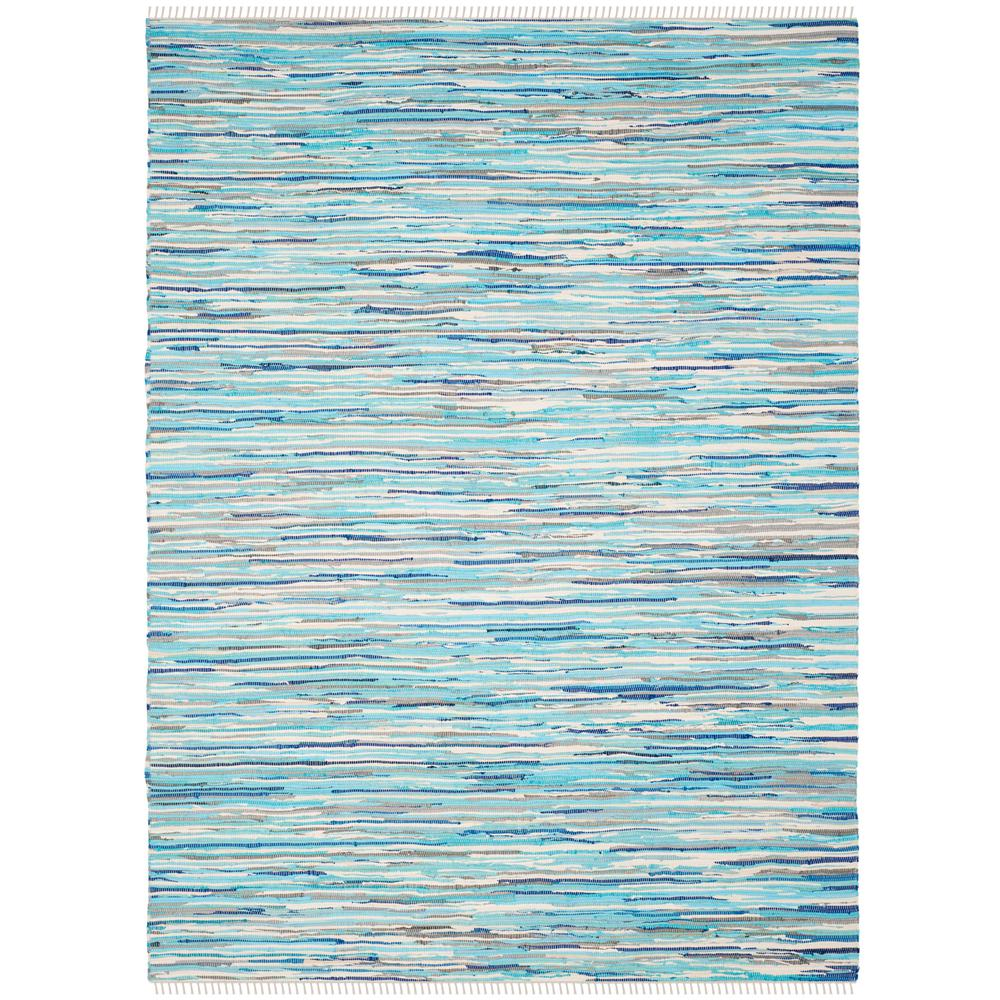 Safavieh Vintage Turquoise And Multi Colored Area Rug: Safavieh Rag Rug Turquoise/Multi 5 Ft. X 8 Ft. Area Rug