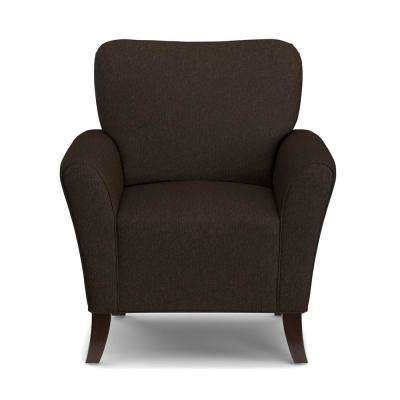 Sasha Flared Chocolate Brown Arm Chair