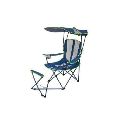 Navy/Lime Original Canopy Chair with Ottoman