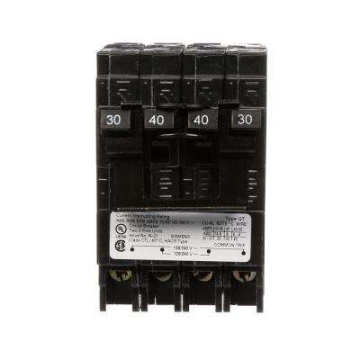 40 Amp Double-Pole and 30 Amp Double-Pole Type QT Quad Circuit Breaker