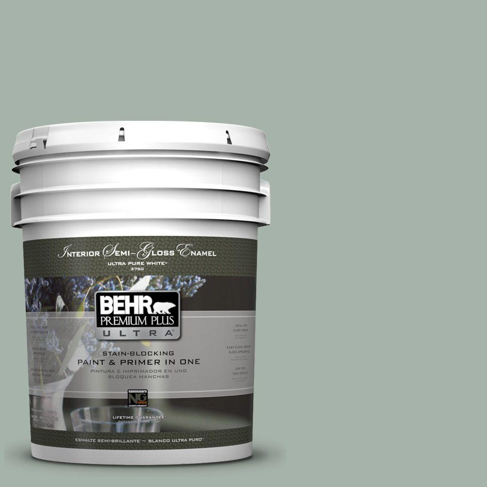 5 gal. #PMD-100 Aquatone Semi-Gloss Enamel Interior Paint and Primer in