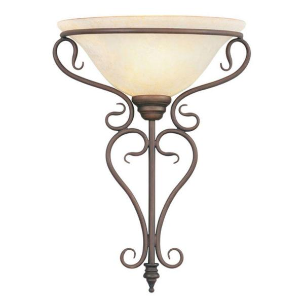 Providence 1-Light Imperial Bronze Incandescent Wall Mount Sconce