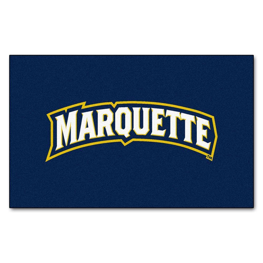 NCAA Marquette University Blue 5 ft. x 8 ft. Area Rug
