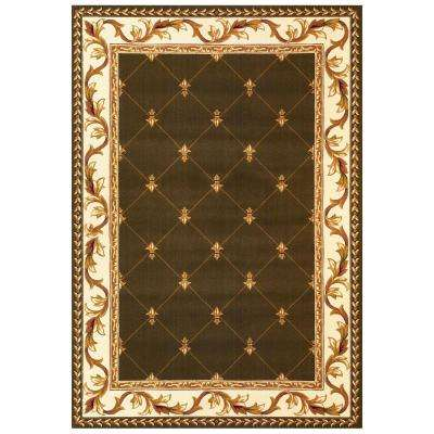 Elegant Traditions Green 5 ft. 3 in. x 7 ft. 7 in. Area Rug