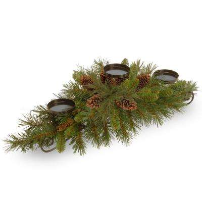 30 in. Pine Cone Centerpiece and Candle Holder
