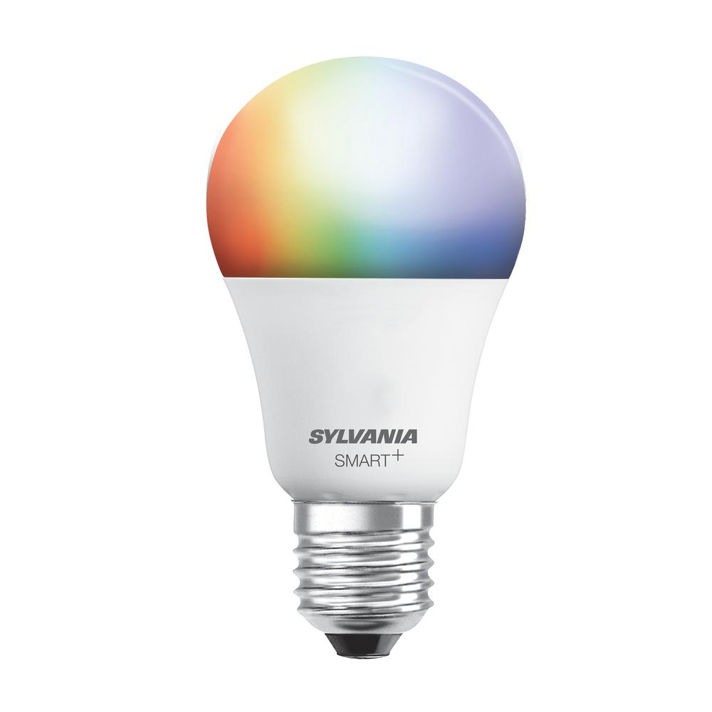 sylvania 60w equivalent multi color and adjustable white a19 smart led light bulb 73693 the. Black Bedroom Furniture Sets. Home Design Ideas