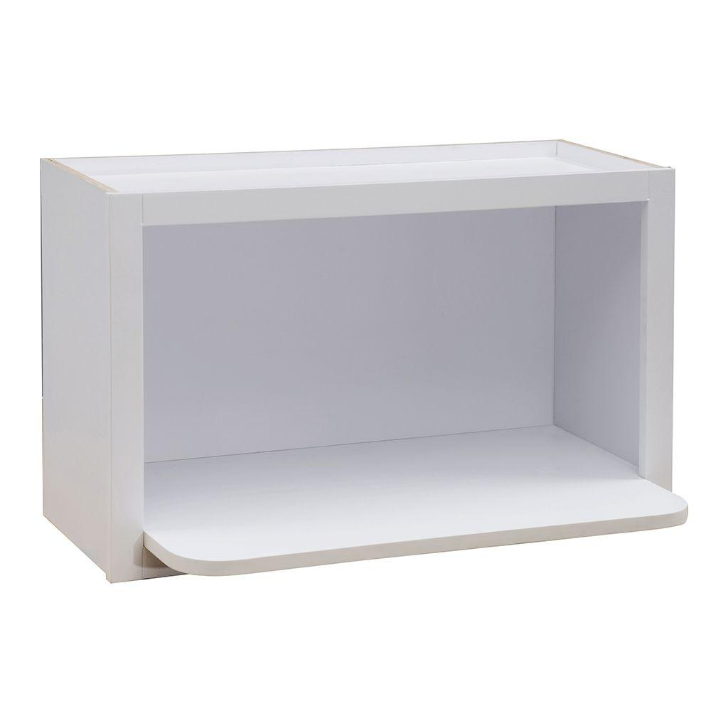 Hallmark Assembled Wall Microwave Shelf In Arctic White