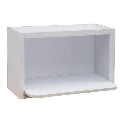 30x18x18 in. Hallmark Assembled Wall Microwave Shelf in Arctic White