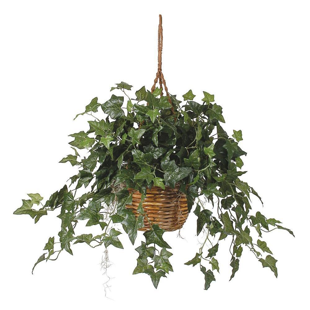 English Ivy Hanging Basket Silk Plant