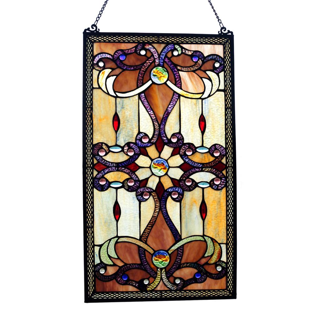 Amber Stained Glass Brandi's Window Panel