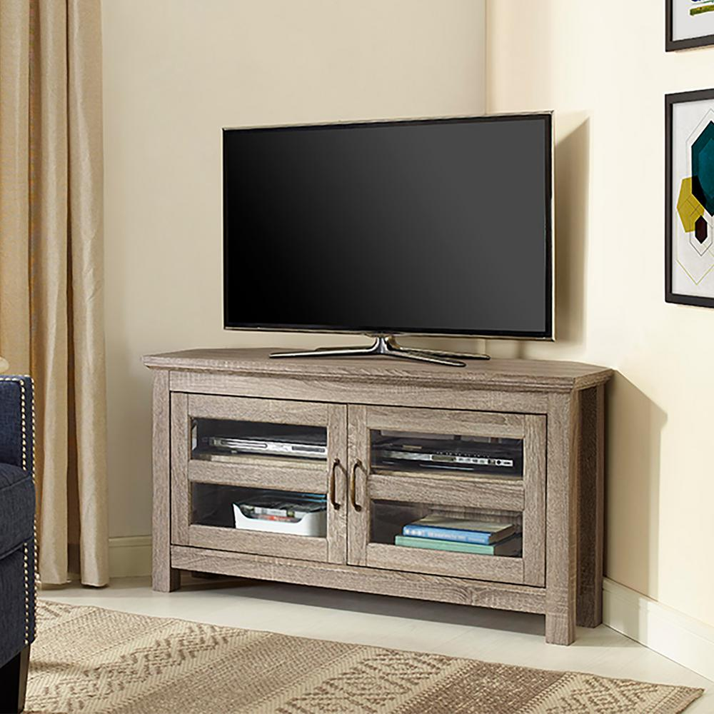 Elegant Walker Edison Furniture Company Beverly Driftwood Entertainment  Center HD44CCRAG   The Home Depot