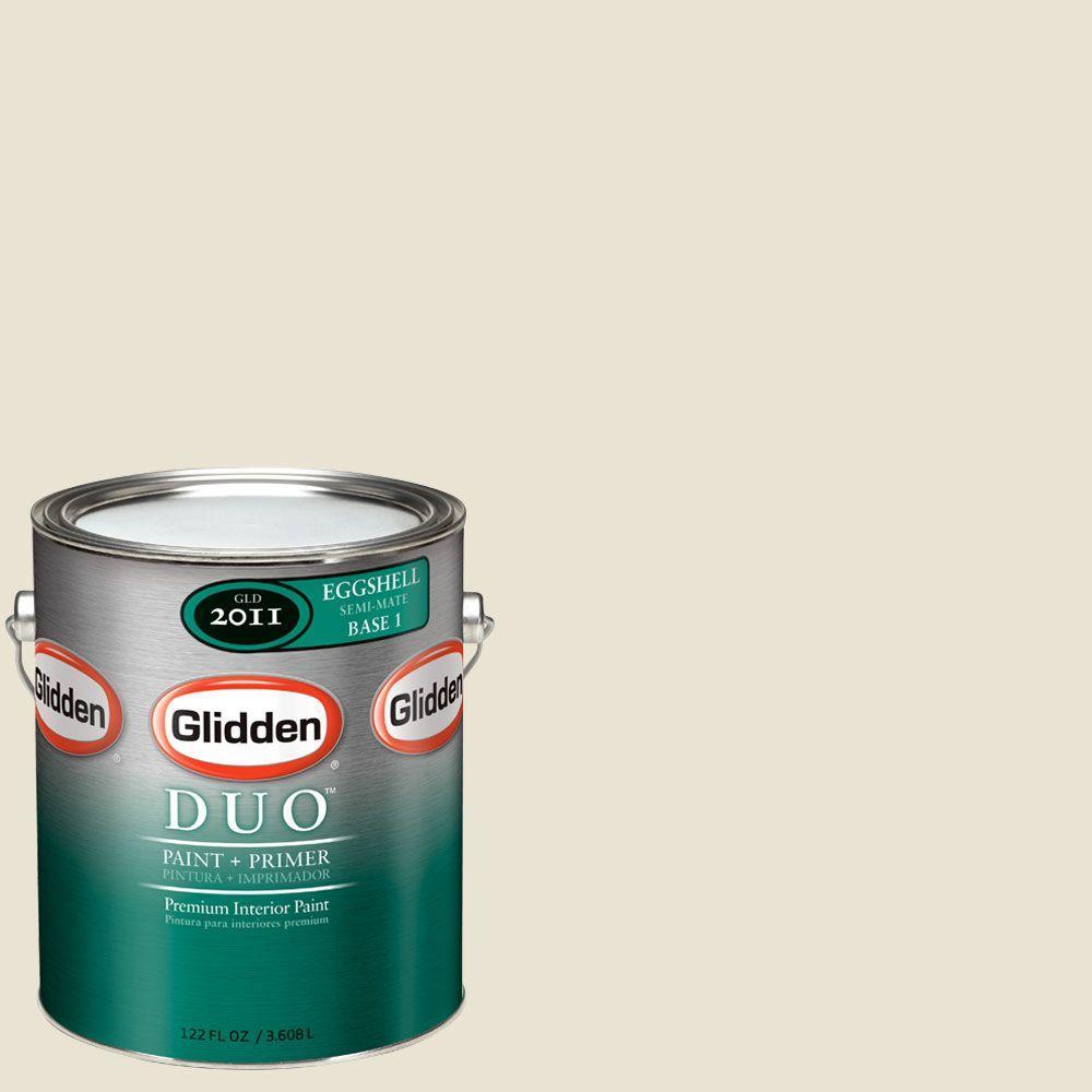 Glidden DUO Martha Stewart Living 1-gal. #MSL255-01E Bone Folder Eggshell Interior Paint with Primer-DISCONTINUED